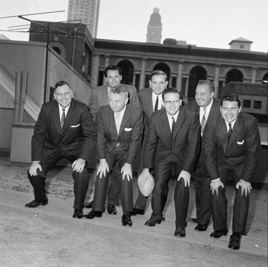 Associated Press: AFL founding members, Ralph Wilson Jr. back row right.