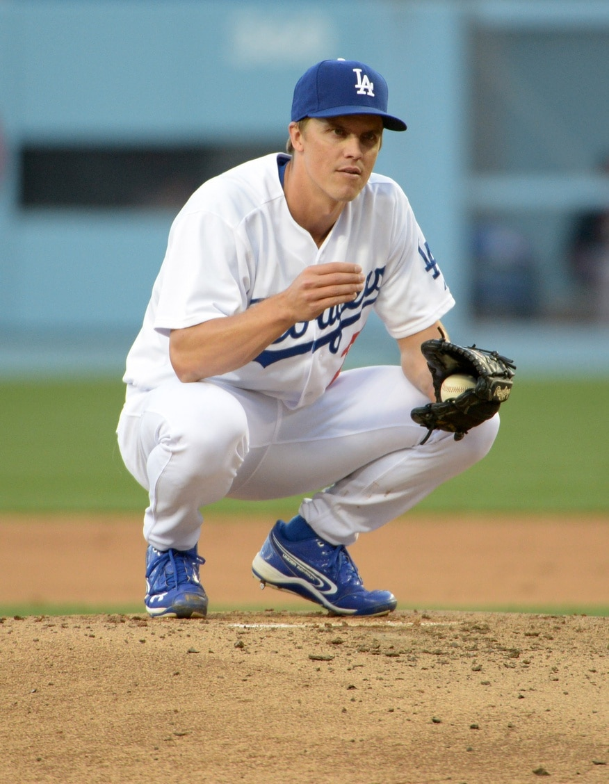 Zack Greinke sits atop the mound. Photo by Kirby Lee, USA Today Sports Images