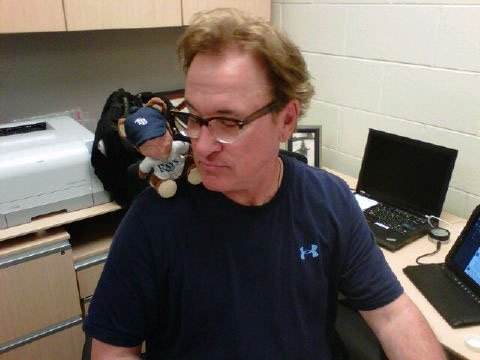 Just a Joe Maddon gnome on Joe Maddon's shoulder.