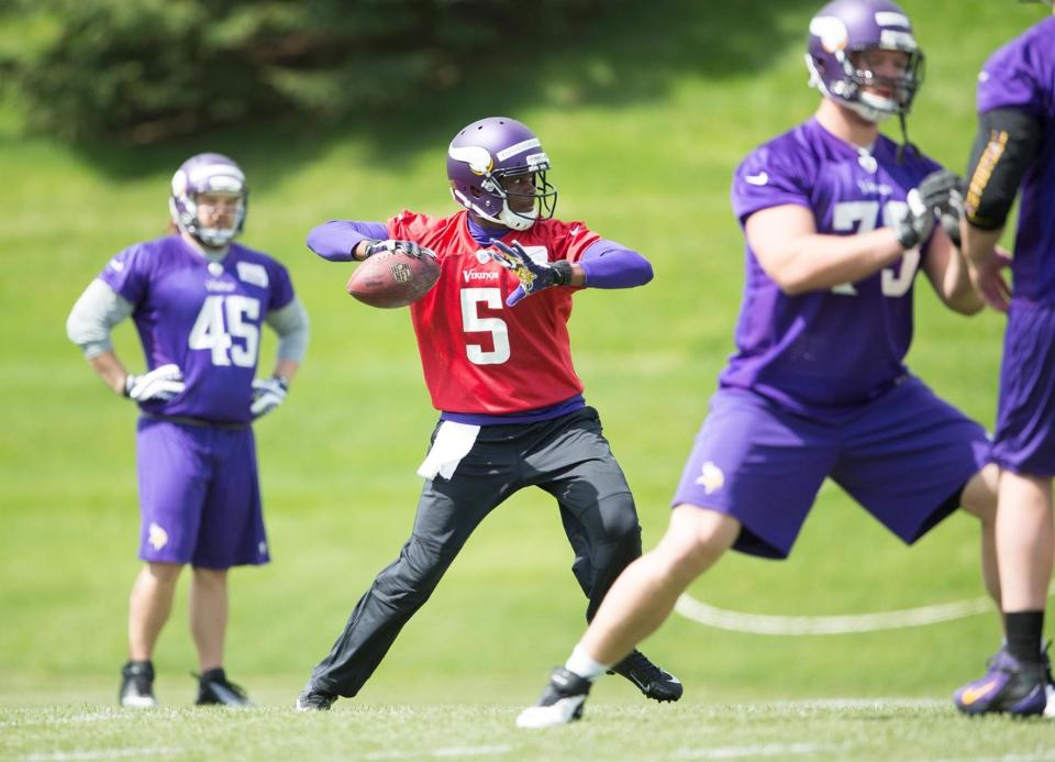 Bridgewater is Zimmer's guy. No matter what. Photo: Vikings.com