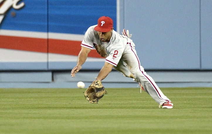 "Fast. No arm. Singles and stolen bases. Twins said ""nah."" Photo: Richard Mackson-USA TODAY Sports"