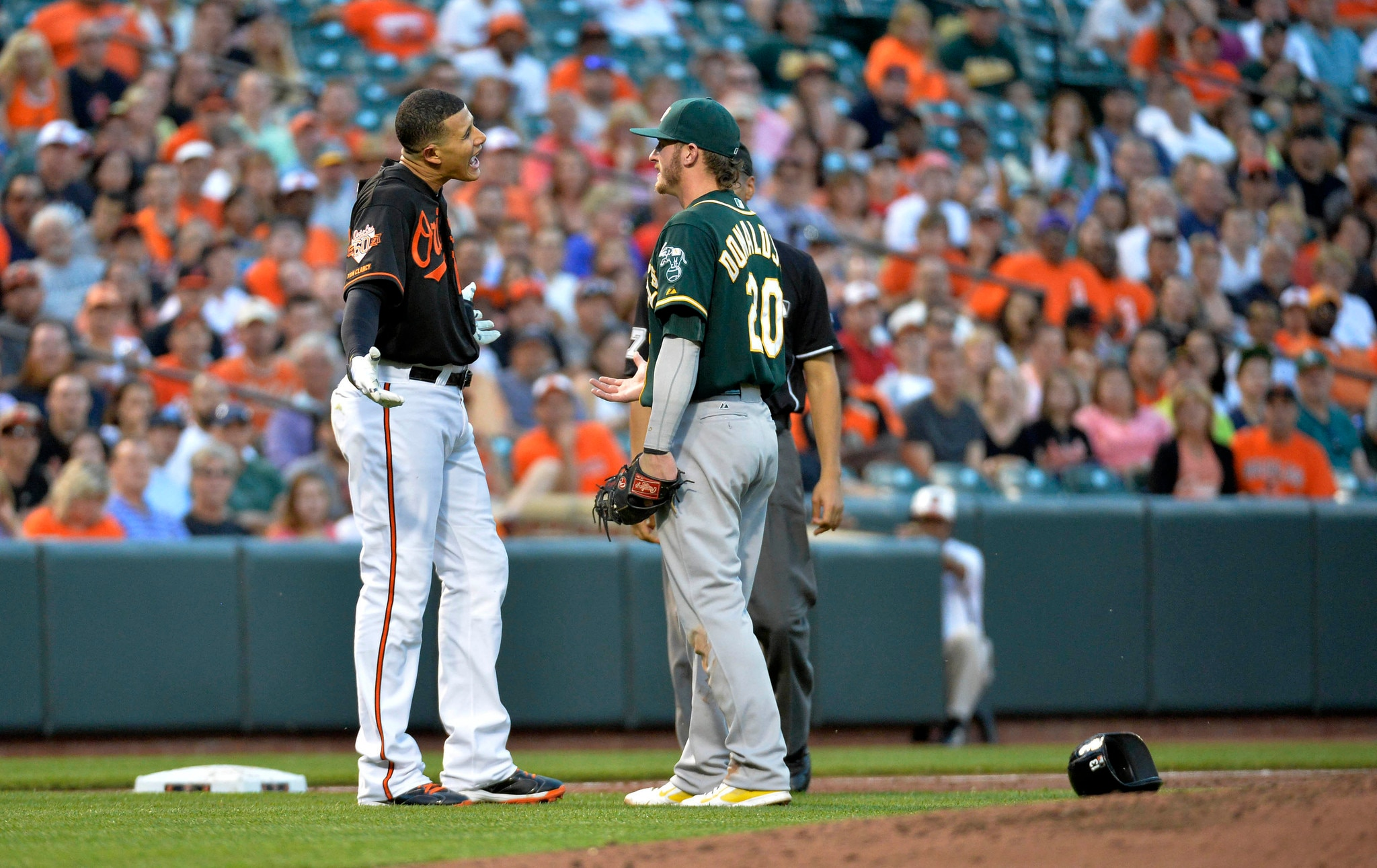 Courtesy of the Baltimore Sun: The bat-throwing incident comes two days after Macahdo and Donaldson got into it.
