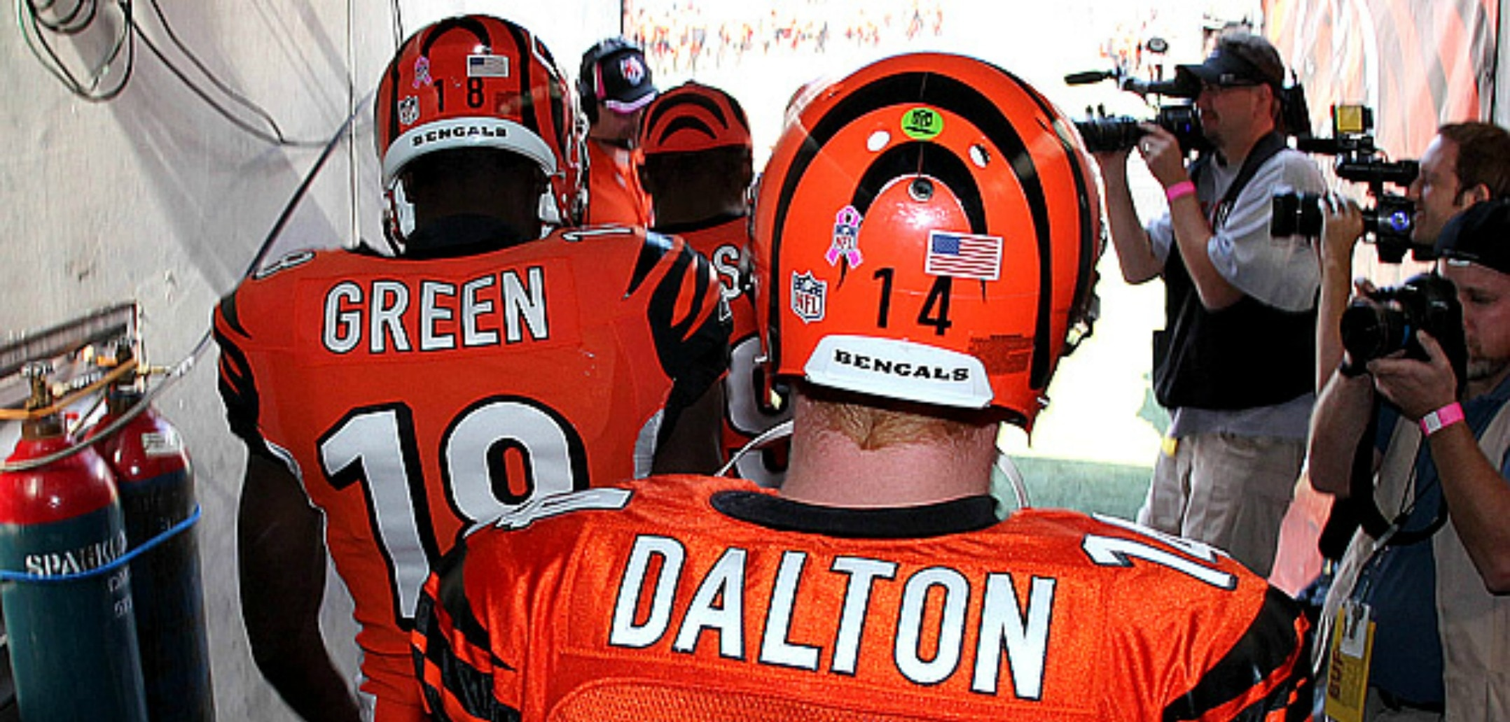 Bengals quarterback Andy Dalton and receiver A.J. Green