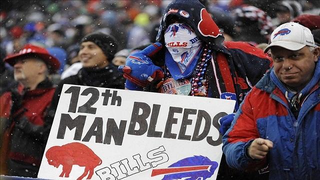 Bills fans boo