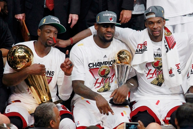 """The """"Big Three"""" in Miami changed everything: Photo - brothersonsports.com"""