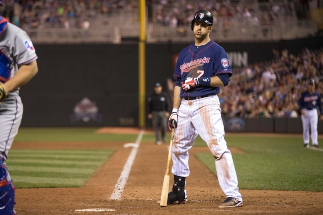 Mauer is starting to show his frustration (sort of). Photo Jesse Johnson-USA TODAY Sports