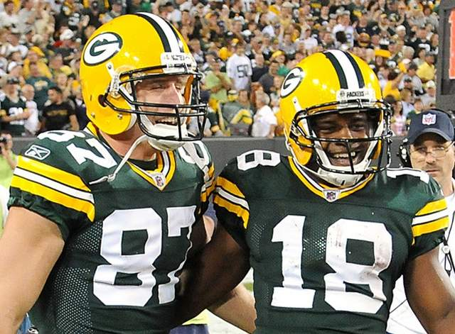 Courtesy of Packersnews.com: Nelson and Cobb have to be happy campers.