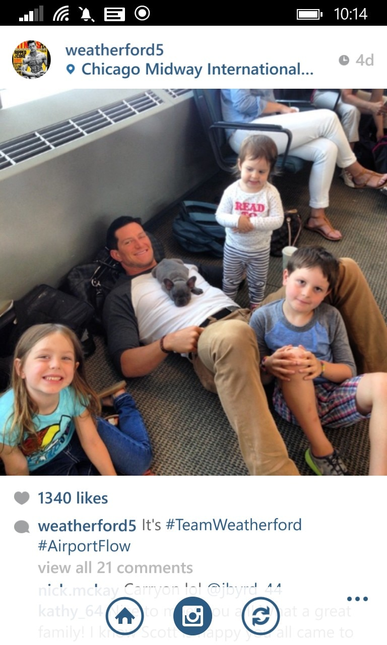 Steve Weatherford and kids