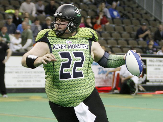 USA Today: Playing for the Northern Kentucky River Monsters earlier this year.
