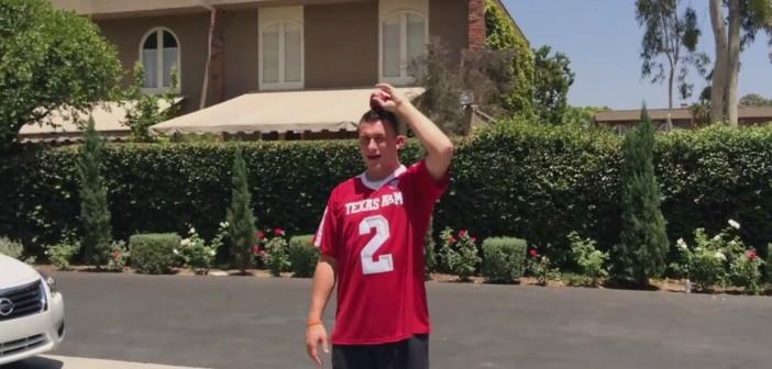 Watch: Robert Griffin III Knocks Apple off Johnny Manziel's Head