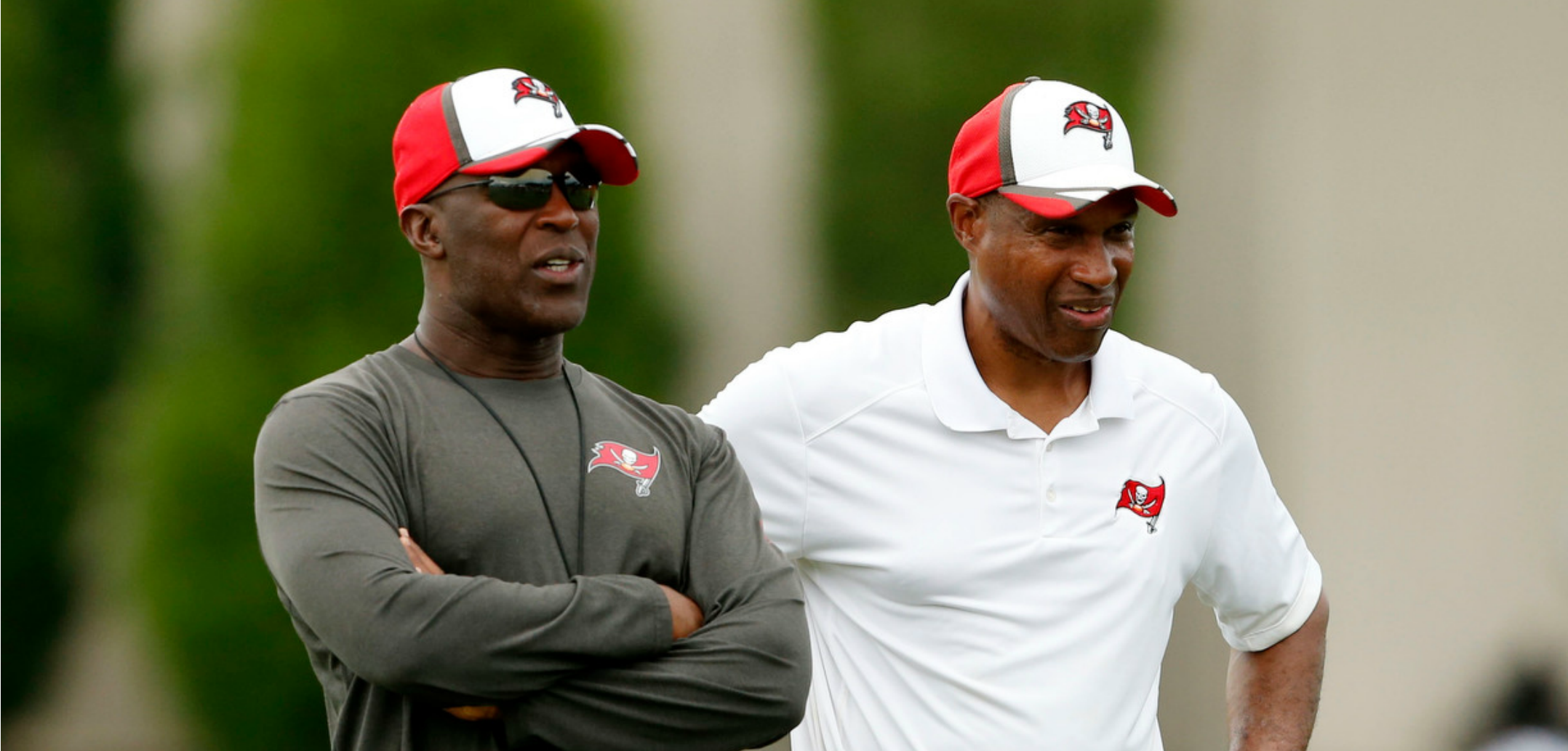 Courtesy of Fox Sports: Lovie Smith (left) and Leslier Frazier (right) make for an elite tandem in Tampa.