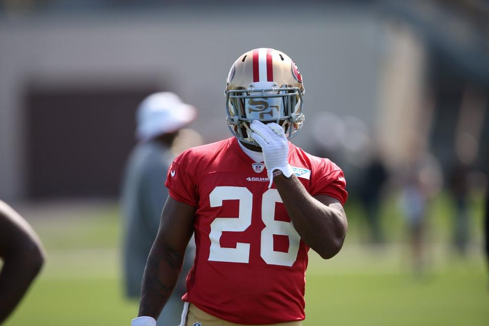 Courtesy of 49ers.com: Hyde has been among the most impressive 49ers in camp.