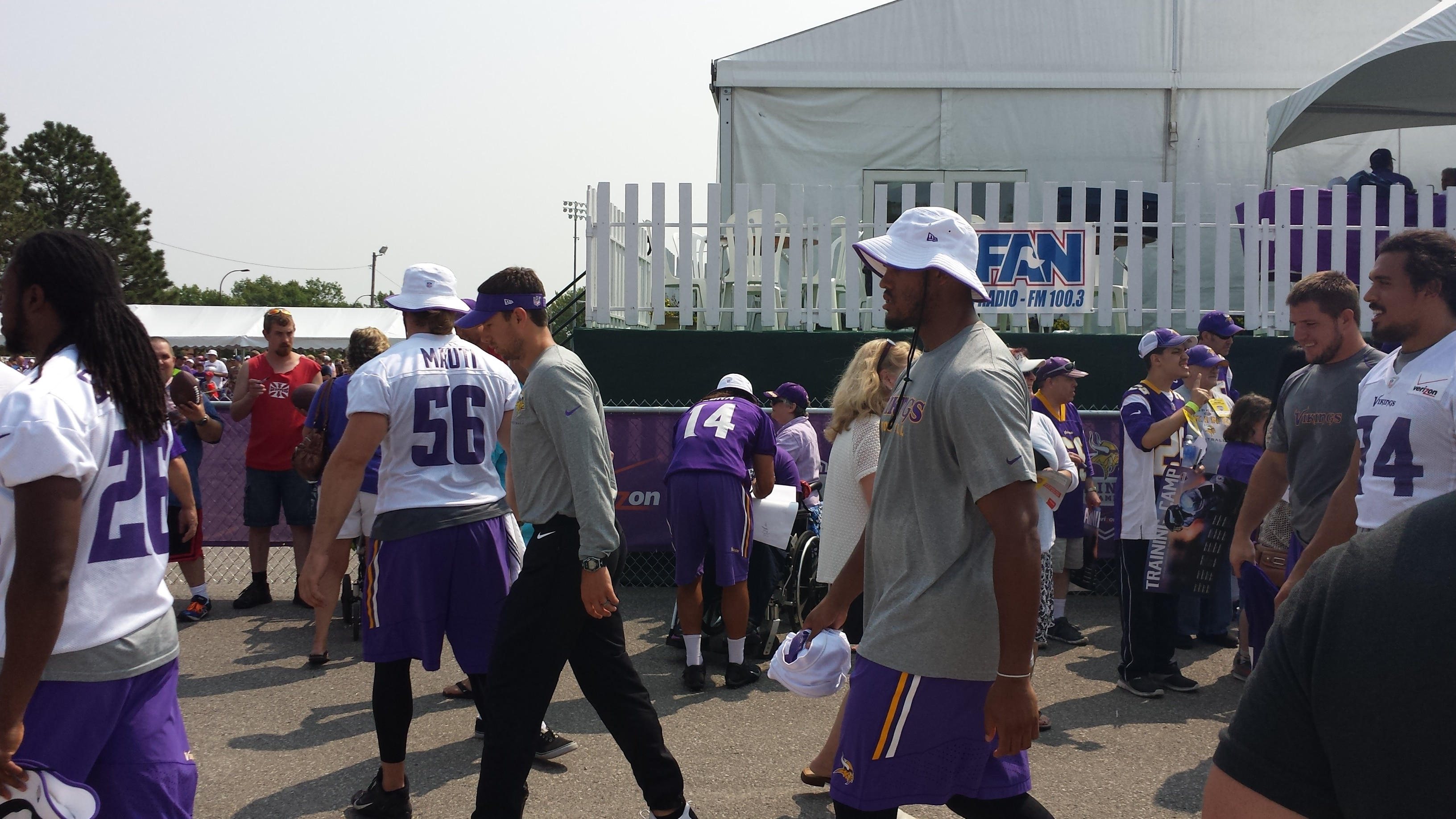 Anthony Barr is tall...and fast...and Zimmer loves  him.