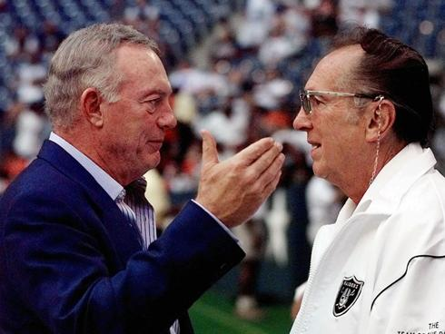 Courtesy of USA Today: Jerry Jones had a good relationship with Al Davis, but that means little today.