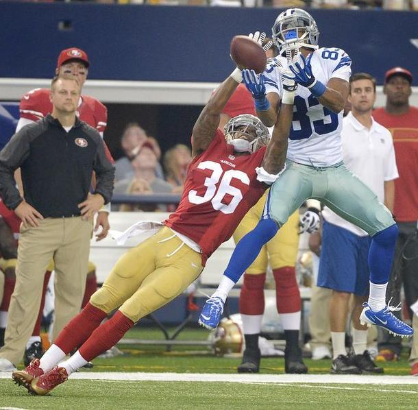 Courtesy of USA Today: Dontae Johnson played well in his NFL debut, but is he ready for prime time?