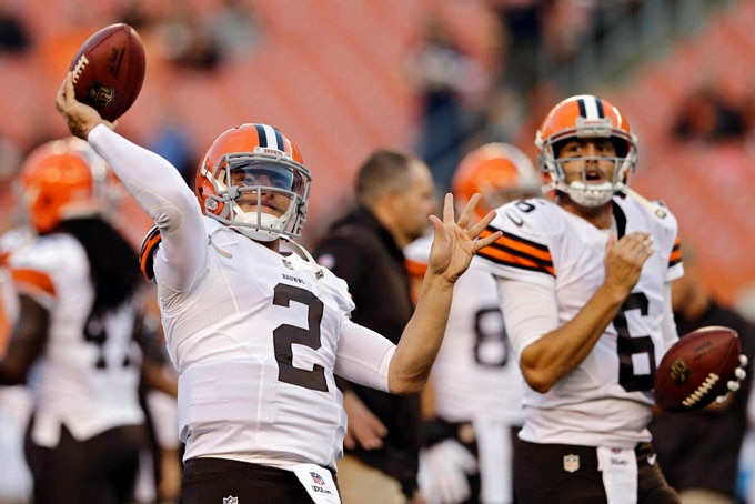 Courtesy of USA Today: Will Manziel see some action Sundy if Hoyer struggles?