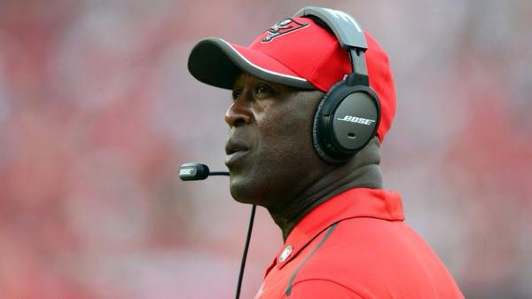 Lovie Smith can't be happy about Tampa Bay's Week 1 performance.