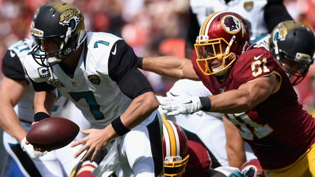 """Courtesy of CBS Sports: Chad Henne is on """"pace"""" to be sacked the most in league history."""