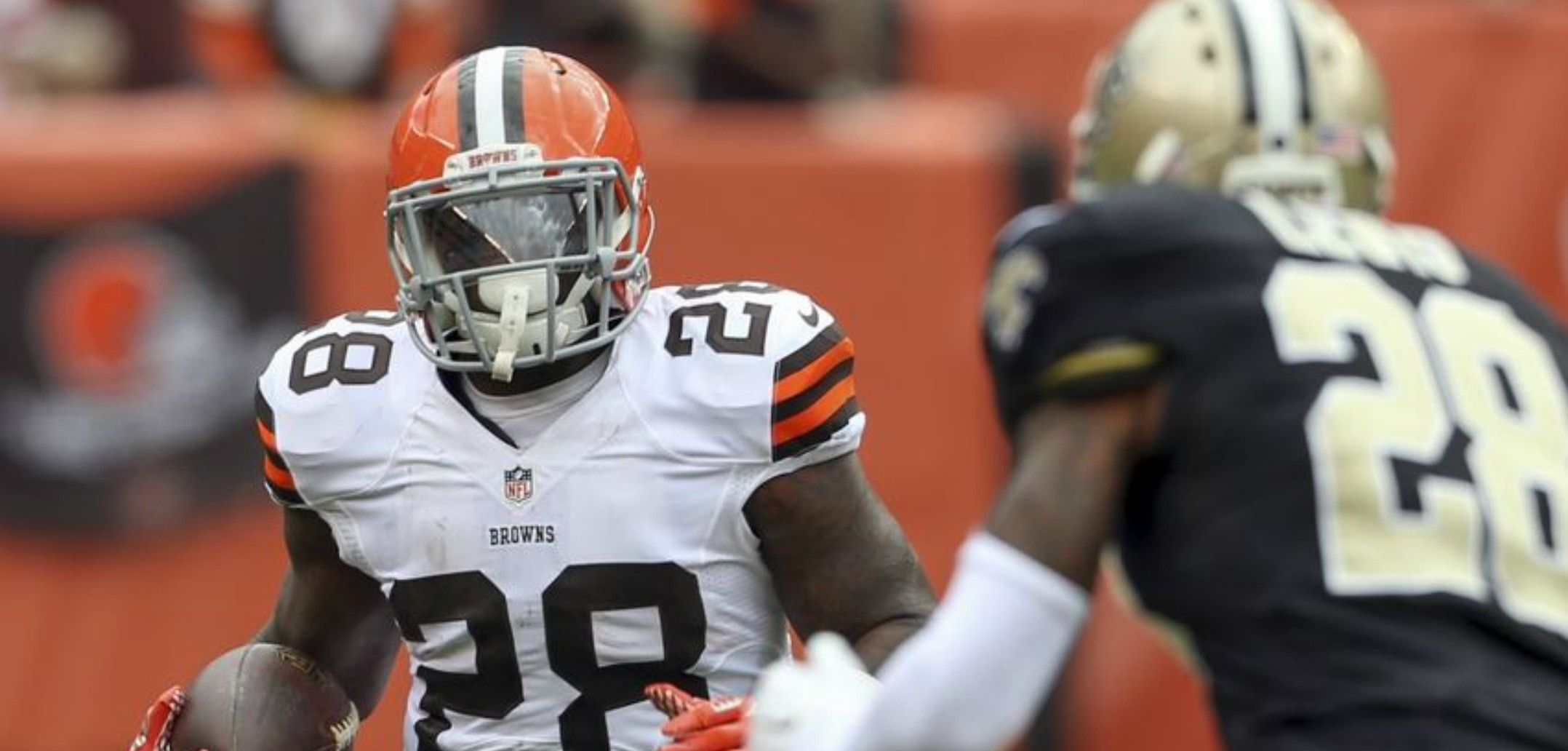 Courtesy of USA Today: Terrance West and the Browns running game is dominating right now.