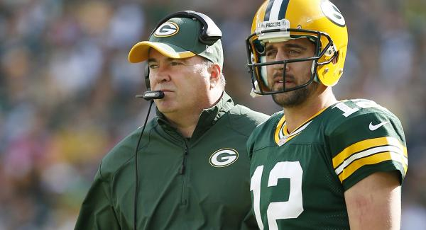 Courtesy of CBS Sports: McCarthy and Rodgers don't seem to have an answer yet.