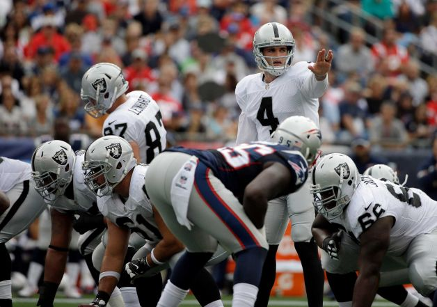 Courtesy of SF Gate: Carr needs help from coordinator Greg Olson to open up the offense.