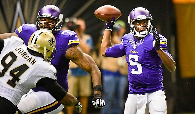 Courtesy of Twincities.com: Barring injury, Bridgewater is the Vikings starter to stay.