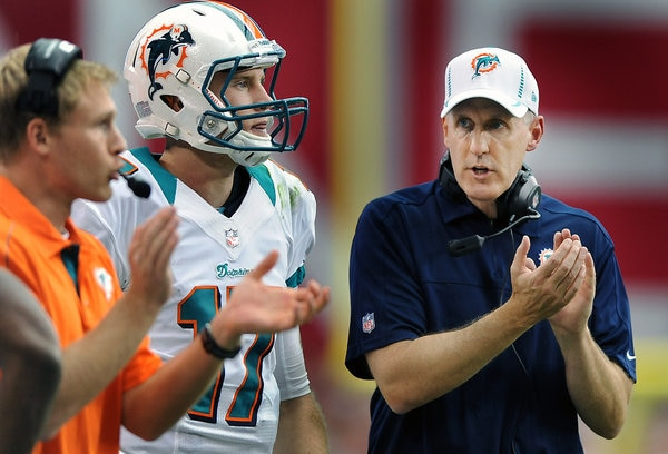 Courtesy of USA Today: Joe Philbin seems to be looking to place the blame here.