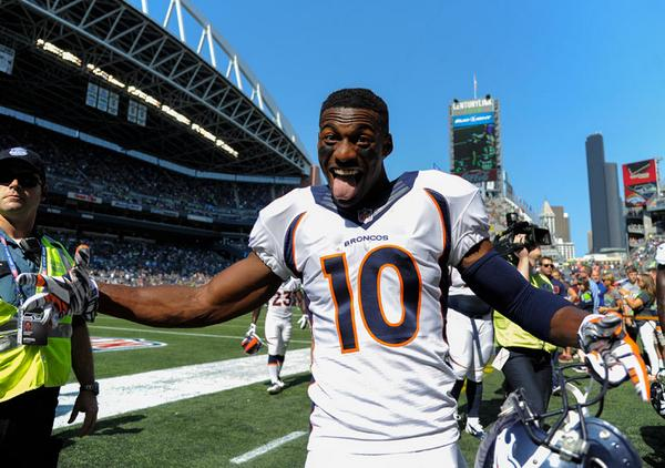Courtesy of The Denver Post: Sanders has immediately become Peyton Manning's favorite target.