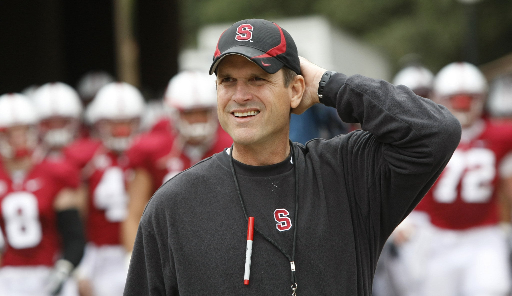 Courtesy of Cleveland.com: Back in 2011, Harbaugh chose the 49ers over Michigan.
