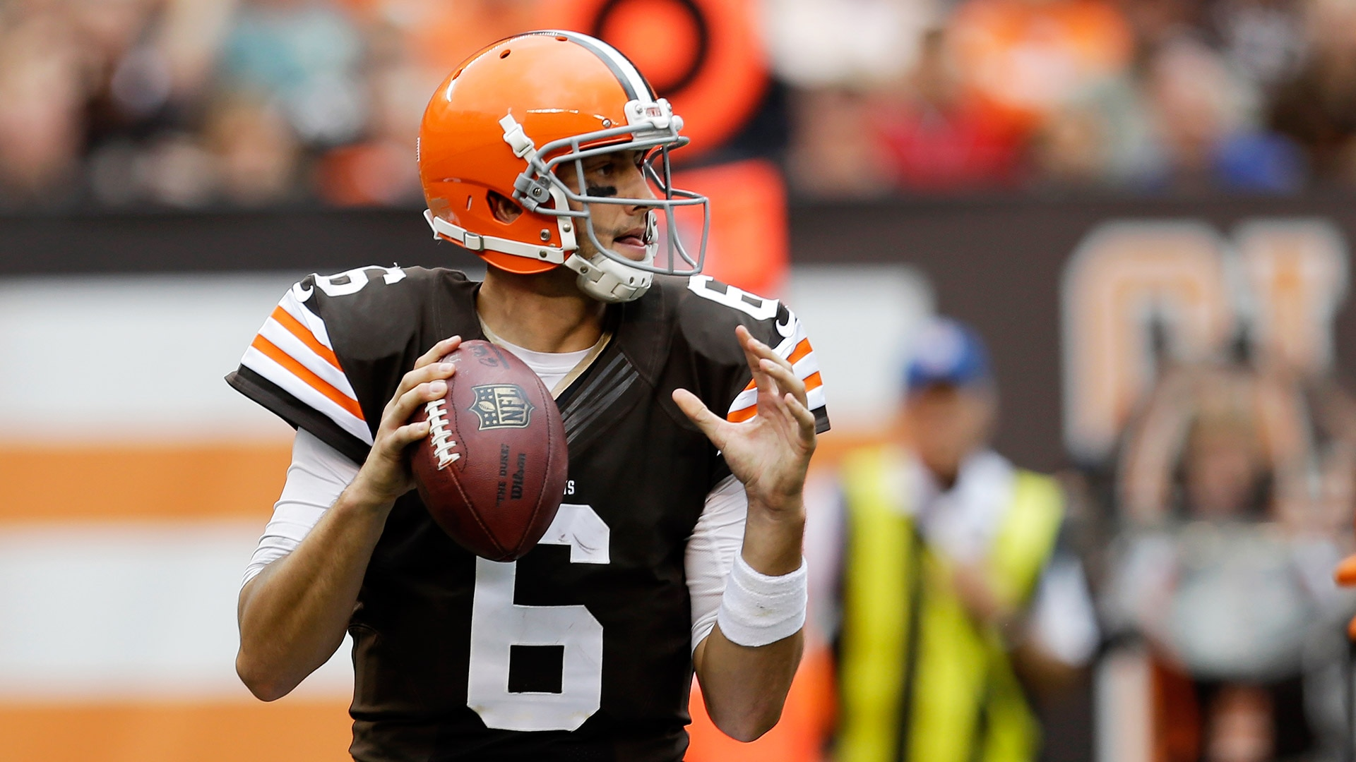 Courtesy of ESPN: The pressure is on Hoyer to prove Manziel's better off on the bench.
