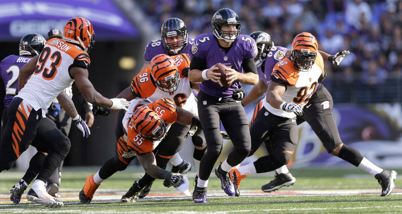 Courtesy of NFL.com: The Bengals look to put the pressure on Joe Flacco and Co.