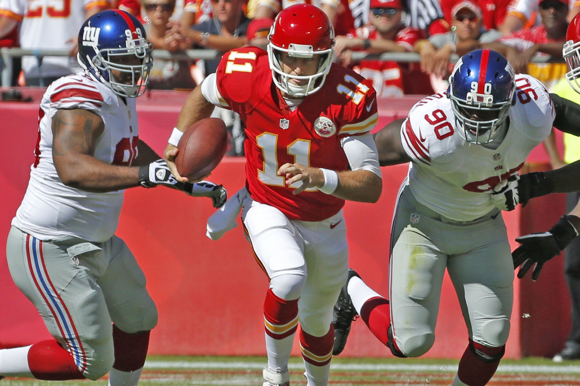 Courtesy of NY Post: Newly extended Alex Smith needs some help at wide receiver.