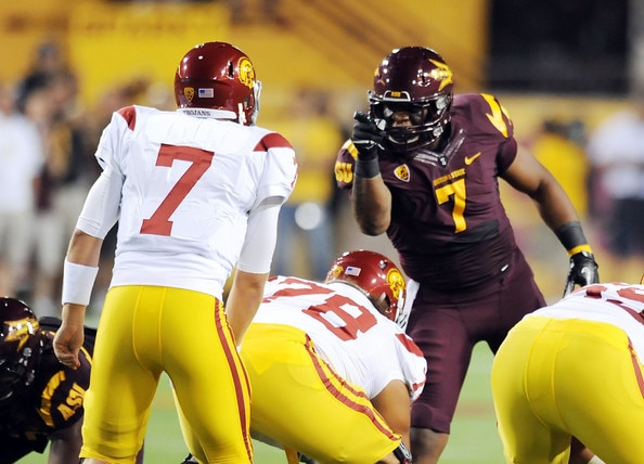 Courtesy of Zimbio.com: On-field behavior became a downfall for Burfict in College.