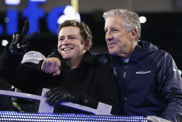 Courtesy of Zimbio.com: Schneider and Carroll have the ideal head coach-general manager relationship.