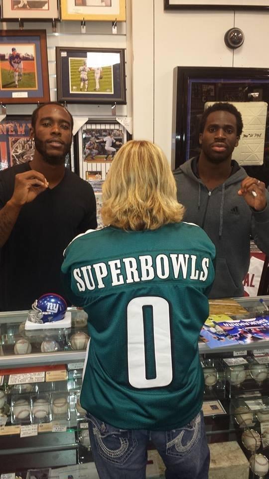 separation shoes d0025 56de0 Giants Players Troll Eagles with 'Super Bowl 0' Jersey