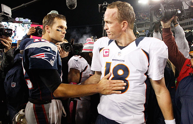 Courtesy of Boston.com: Statistically, Brady can't hold Manning's jockstrap when it comes to the regular season.