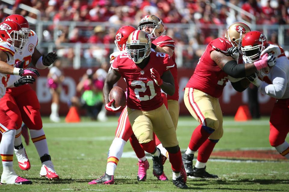 Courtesy of 49ers.com: Frank Gore and the 49ers are back in business.