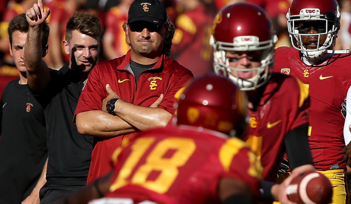 Courtesy of USA Today: Sark learned under Pete Carroll and has had success grooming young quarterbacks.