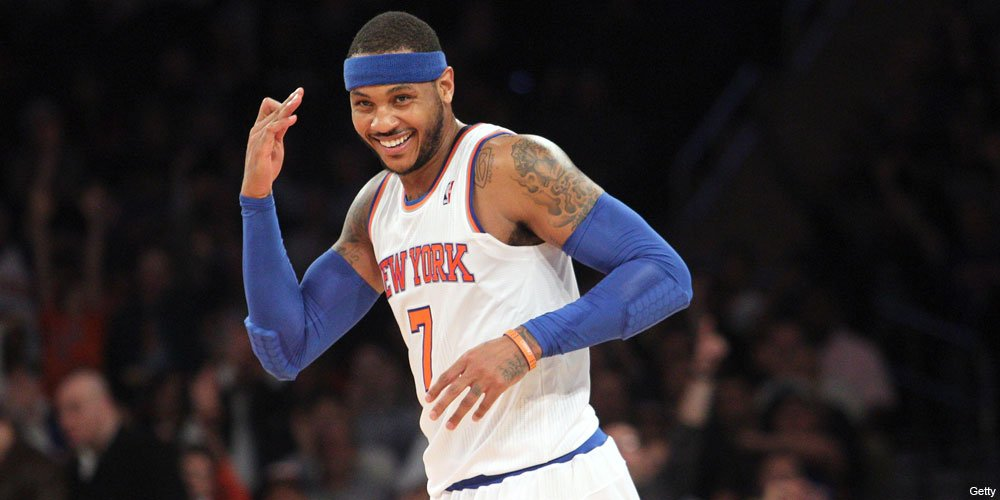 Carmelo chose to say with the Knicks. Now we see if he can he get them a championship. Courtesy Getty Images
