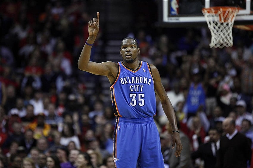 We'll see what the Thunder look like with and without Durant this season. Courtesy fansided.com