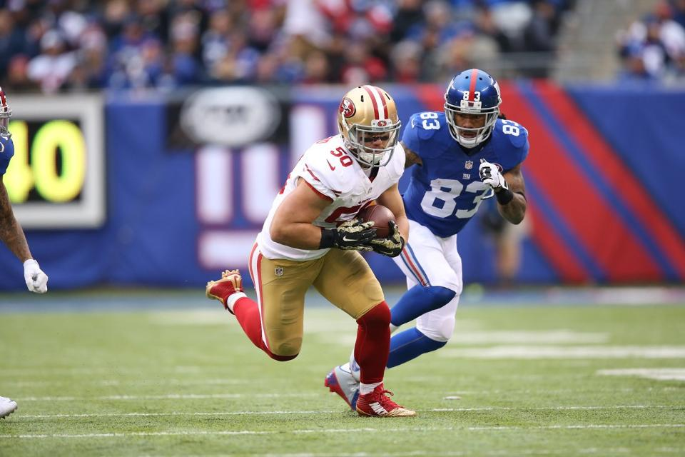 Courtesy of 49ers.com: Chris Borland joins the Rookie of the Year conversation.