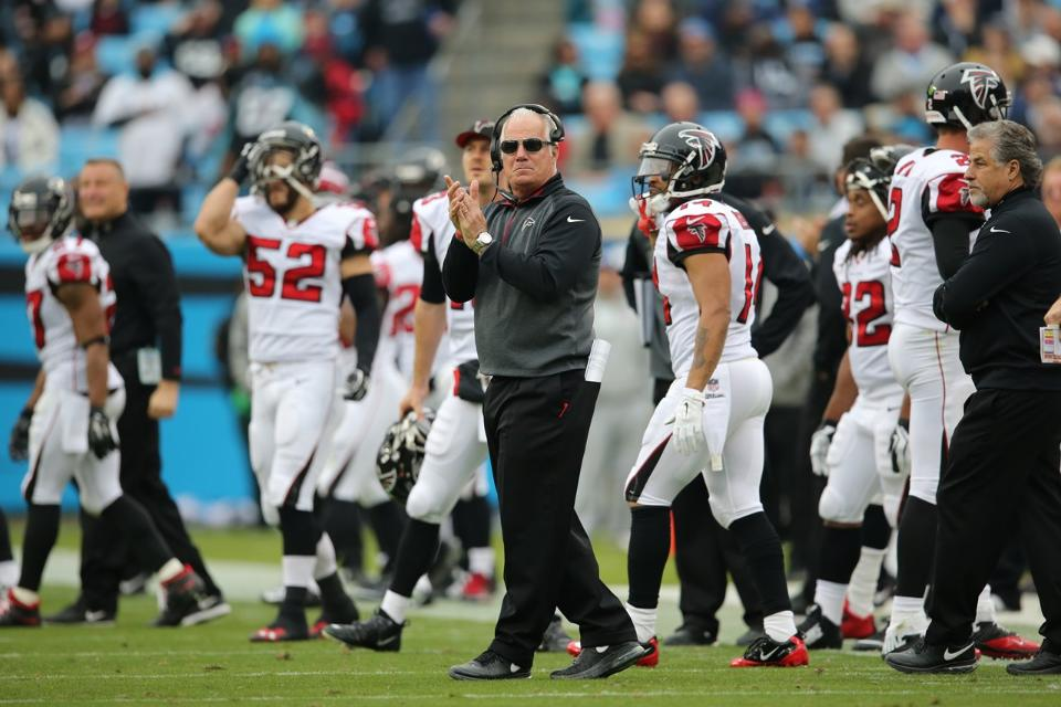 Courtesy of the Atlanta Falcons: At two games under .500, Mike Smith's squad is in first.