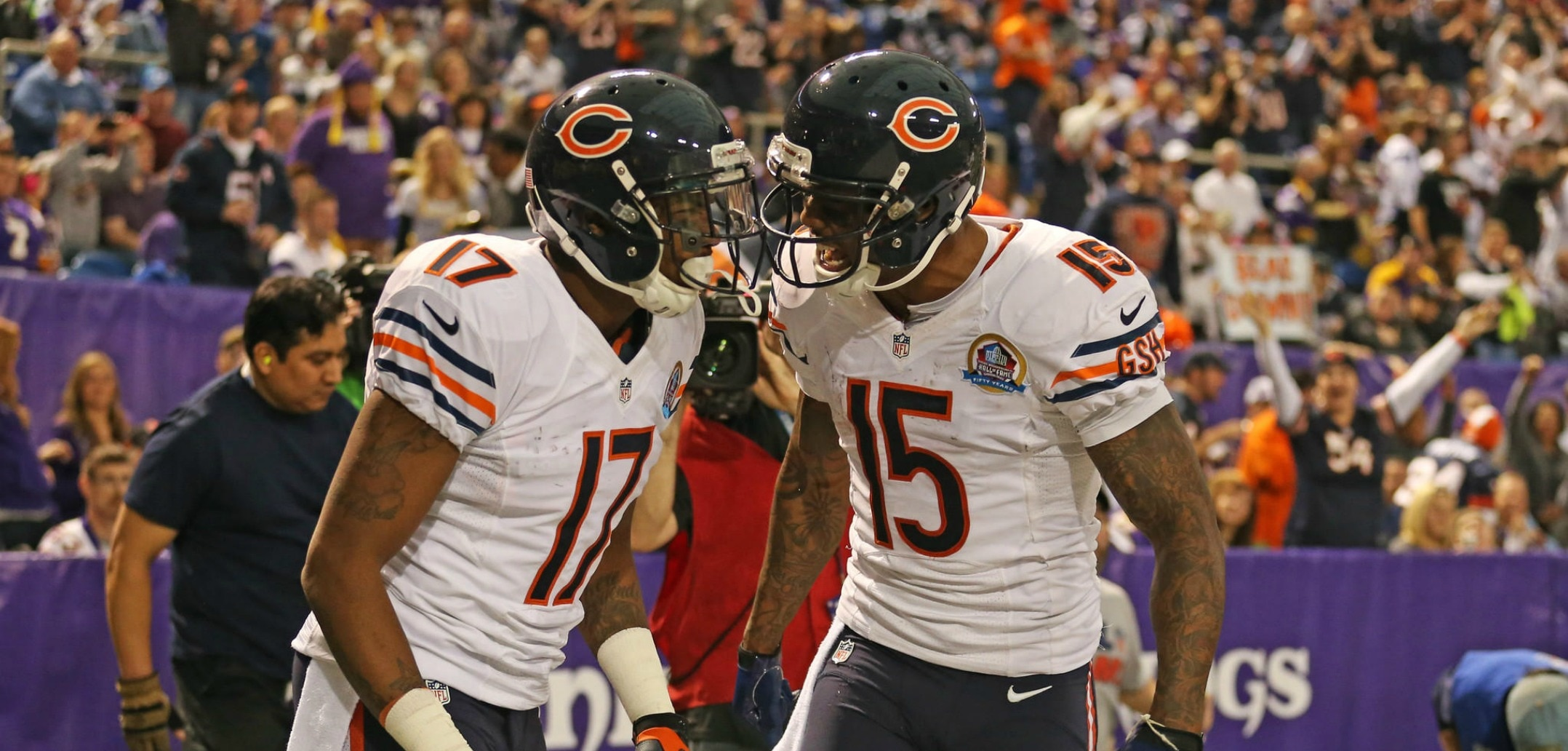 the best attitude 0b248 0b682 Chicago Bears' Brandon Marshall and Alshon Jeffery Have ...