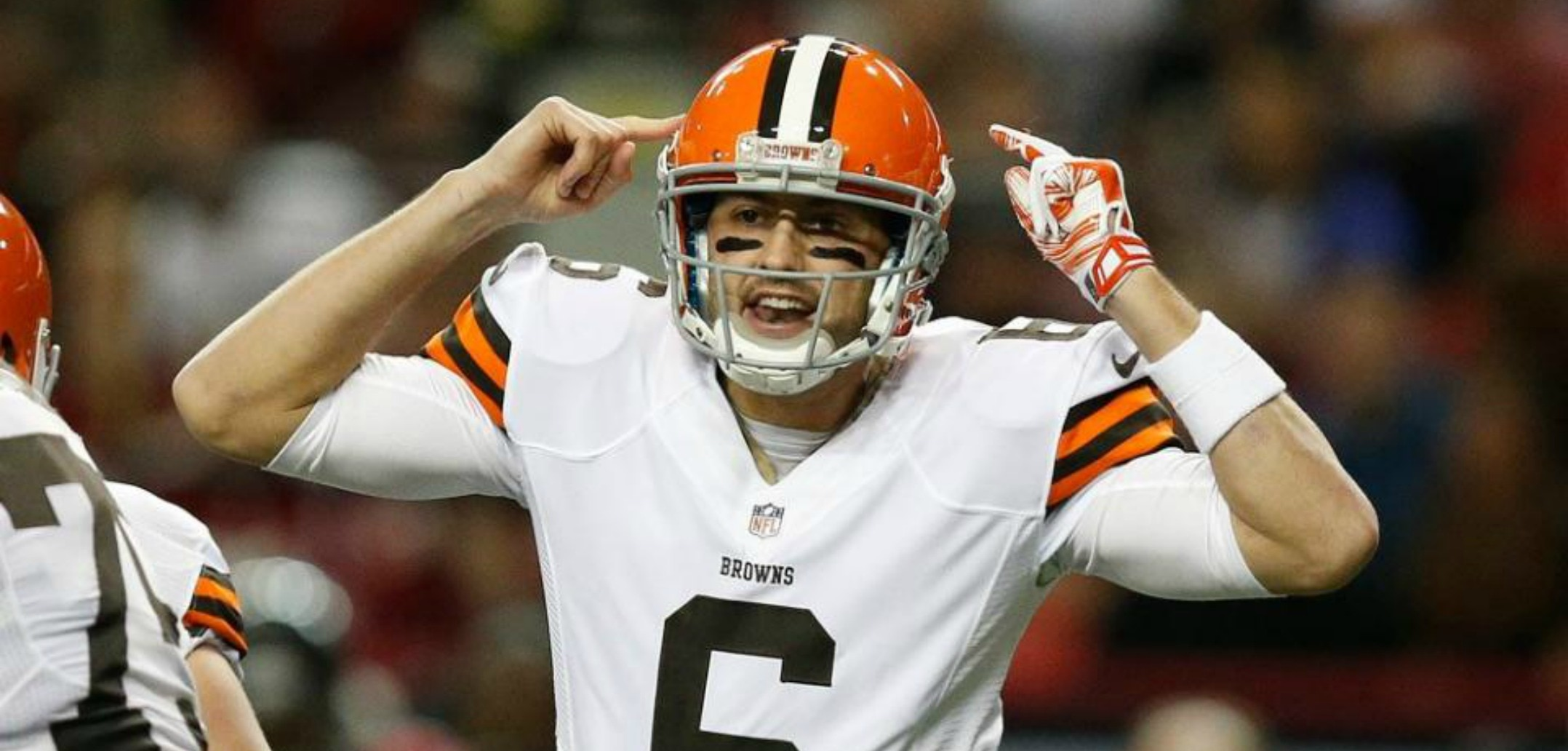 Courtesy of ClevelandBrowns.com: Hoyer may have struggled, but he came through when it counted.