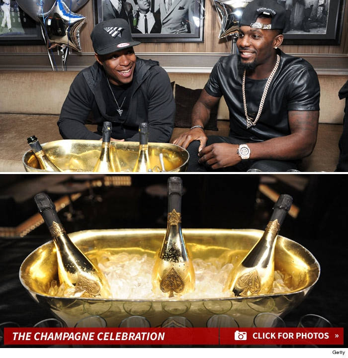 Dallas Cowboys Dez Bryant Popping Corks And Partying With