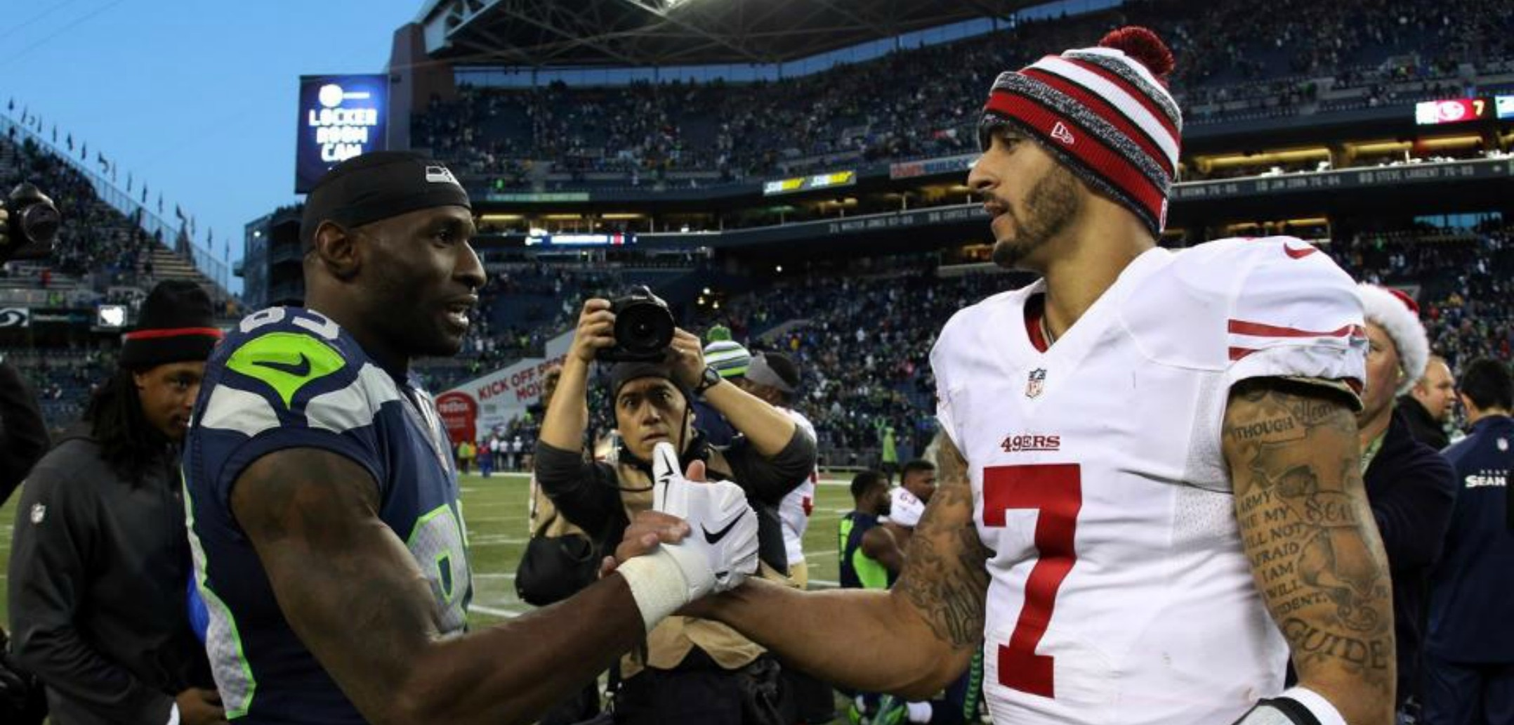 Courtesy of Seahawks.com: Colin Kaepernick and the 49ers now have an uncertain future ahead of themselves.