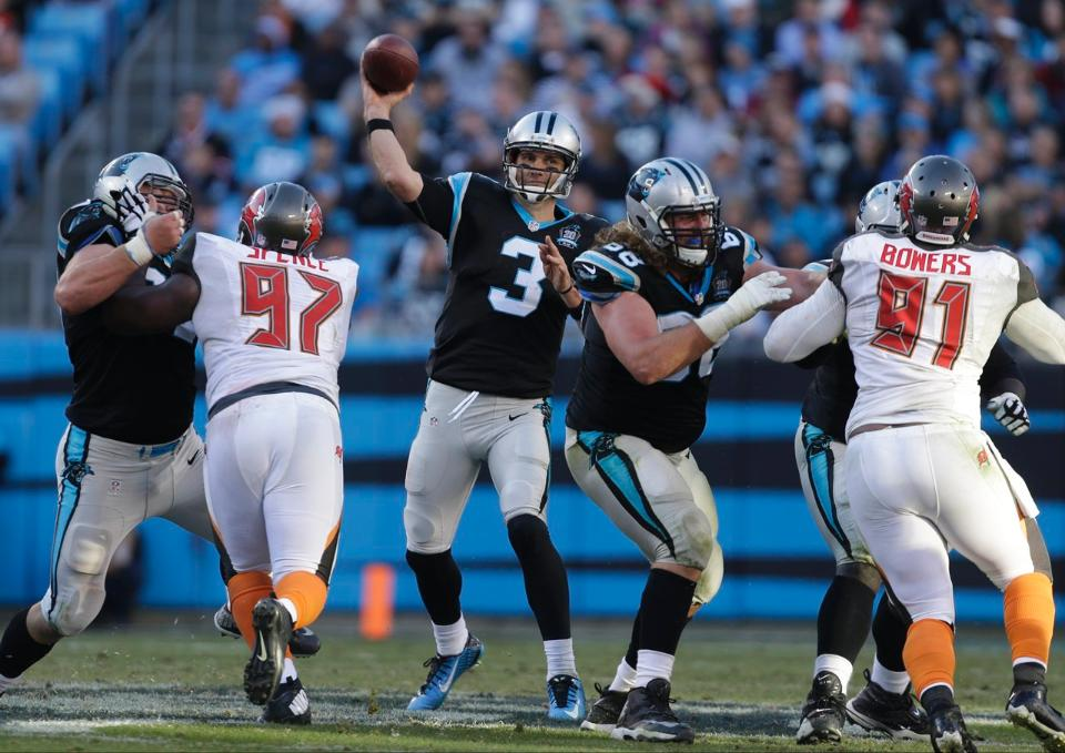 Courtesy of Panthers.com: Filling in for an injured Cam Newton, backup Derek Anderson got the job done in Carolina.