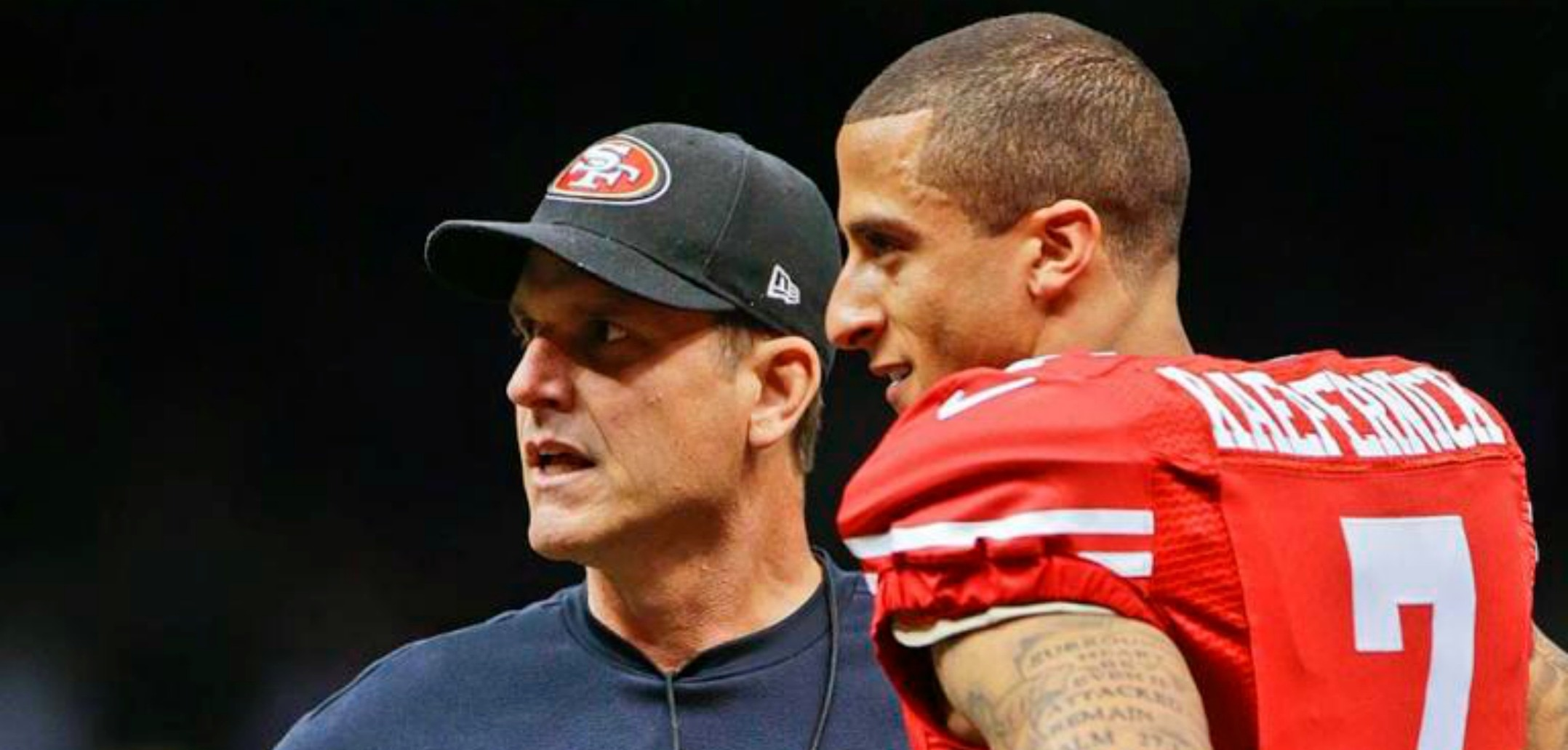 Courtesy of USA Today: Kaepernick is seen as Harbaugh's guy.