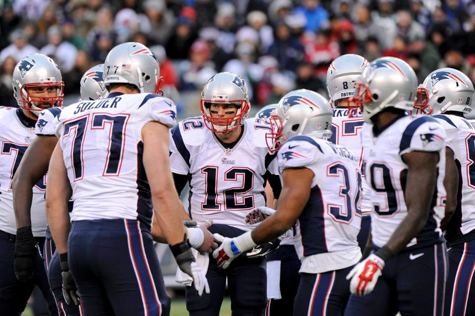 Courtesy of the Patriots.com: Tom Brady and Co. were among the teams that won ugly on Sunday.