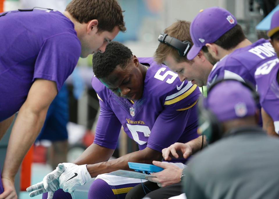 Courtesy of Vikings.com: Yet another heartbreaking loss for Teddy and the Vikings.